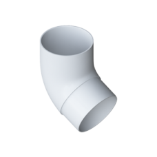 Колено трубы 67° ПВХ