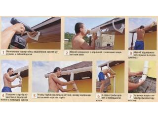 Монтаж пластиковых водостоков своими руками (инструкция и рекомендации)