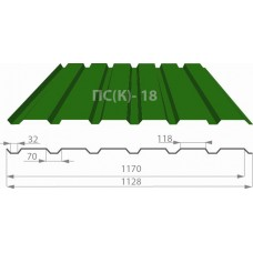 Профнастил ПС-18 РЕ (полиестер) 0,45