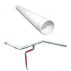 RUUKKI Труба водосточная 1м (металл)