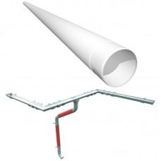 RUUKKI труба водосточная 2,5м (металл)